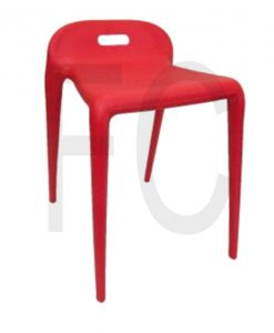 Moon stool_red