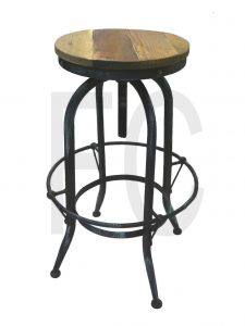 vintage rustic bar stool_black aqua